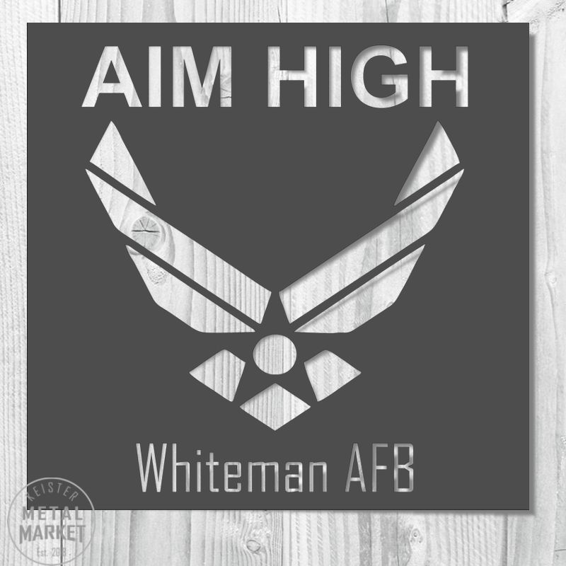 Aim High Air Force Personalized Metal Decor