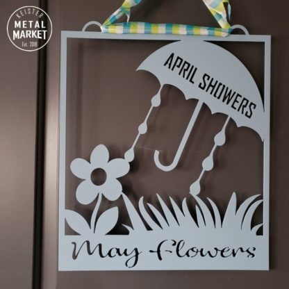 Keister Metal Market April Showers May Flowers Decor