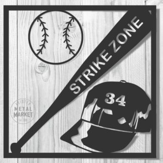 Sports Baseball Metal Decor Keister Metal Market