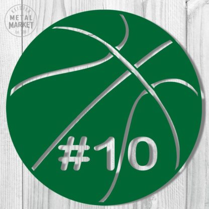 Sports Basketball Metal Decor Keister Metal Market