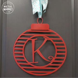 Monogram Custom Metal Wall Decor Christmas Keister Metal Market