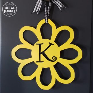 Metal Flower Personalized Monogram Keister Metal Market Merriam KS