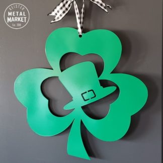 Shamrock Leprechaun Metal Door Sign Keister Metal Market
