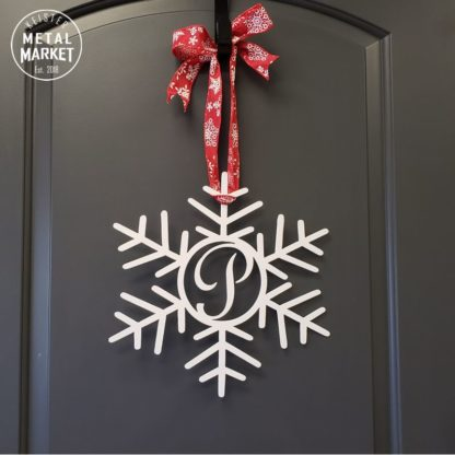 Snowflake Monogram Metal Decor Keister Metal Market