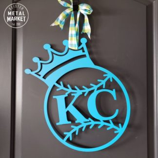 Metal Wall Decor CNC Plasma Cutting KC Royals Baseball Keister Metal Market Merriam KS