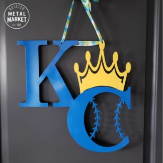 KC Royals Baseball Metal Wall Decor CNC Plasma Cutting KC Royals Baseball Keister Metal Market Merriam KS