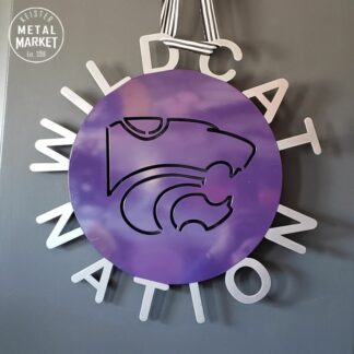 Kansas State Wildcats Wildcat Nation Metal Wall Decor