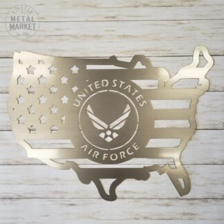 US Military Air Force Metal Wall Art Keister Metal Market CNC Plasma Cut