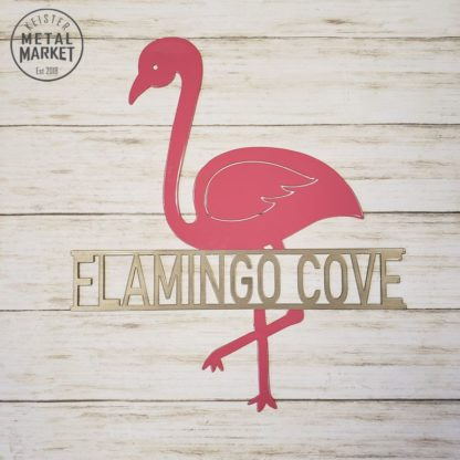 Flamingo Metal Decor