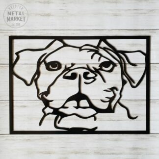 Metal Wall Art Boxer Dog