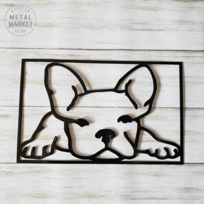 Metal Wall Art Frenchie