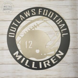 Football Metal Sign Keister Metal Market