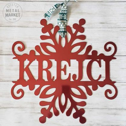 Personalized Winter Holiday Metal Decor