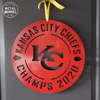 Kansas City Chiefs Football Super Bowl 54 Metal Wall Decor Keister Metal Market Merriam KS